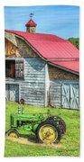 Hayesville Barn And Tractor Beach Towel