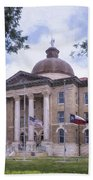 Hays County Courthouse Beach Towel
