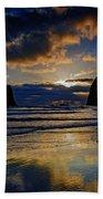 Haystack Sunset Beach Towel