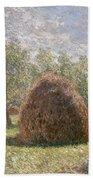 Haystacks At Giverny Beach Sheet