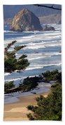 Haystak Rock Through The Trees Beach Towel