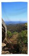 Hazel Mountain Overlook On Skyline Drive In Shenandoah National Park Beach Towel