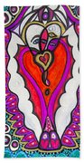 He She Heart Beach Towel