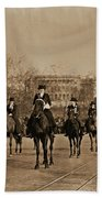 Head Of Washington D.c. Suffrage Parade Beach Towel
