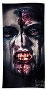 Head Shot On A Pure Evil Zombie Girl Beach Towel