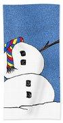 Headless Snowman Beach Sheet