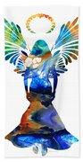 Healing Angel - Spiritual Art Painting Beach Towel