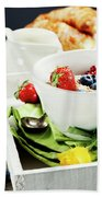 Healthy Breakfast Beach Towel