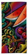 Healthy Fruit Beach Towel