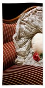 Heart And Rose Victorian Style Beach Towel