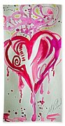 Heart Energy Beach Towel