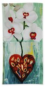 Heart In Bloom Beach Towel