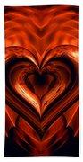 Heart In Flames Beach Towel