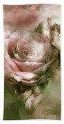 Heart Of A Rose - Antique Pink Beach Towel