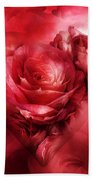 Heart Of A Rose - Red Beach Towel