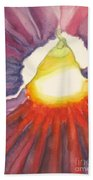 Heart Of The Flower Beach Towel