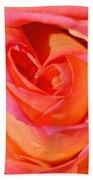 Heart Of The Rose Beach Towel