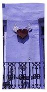 Heart On Wall Beach Towel