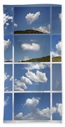 Heart Shaped Clouds - Collage Beach Towel