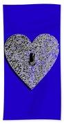 Heart Shaped Lock .png Beach Towel