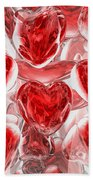 Hearts Afire Abstract Beach Towel