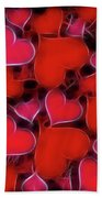 Hearts Collage Beach Towel