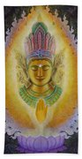 Heart's Fire Buddha Beach Towel