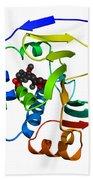 Heat Shock Protein 90 Beach Towel by Ted Kinsman