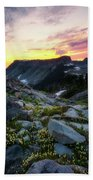 Heather Meadows Sunset Beach Towel