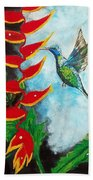 Heavenly Heliconia Beach Towel