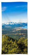 Heavenly South Lake Tahoe View 1 - Left Panel Beach Towel