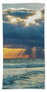 Heavenly Sunrise Panorama At Riviera Beach  Beach Sheet