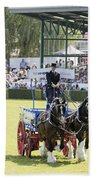 Heavy Horses Competition Beach Towel