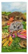 Hedgehogs Inside Scarf Beach Towel