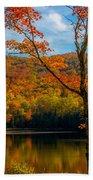Heights Of Autumn Beach Towel