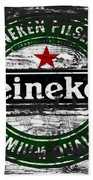Heineken Beer Wood Sign 1f Beach Sheet