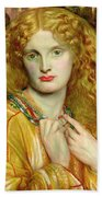 Helen Of Troy Beach Towel by Dante Charles Gabriel Rossetti