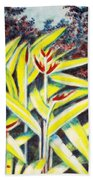 Heliconia 2 Beach Towel