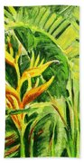 Heliconia 8 Beach Towel