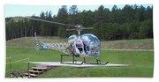 Helicopter Ride South Dakota Beach Sheet