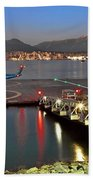 Heliport In The Vancouver's Port Beach Towel