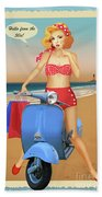 Hello From The 50s Beach Towel