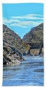 Hells Canyon Dam  Beach Towel