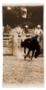 Helluva Rodeo-the Ride 2 Beach Towel