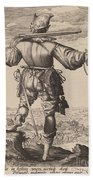 Helmeted Musketeer Beach Towel