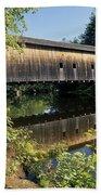 Hemlock Covered Bridge - Fryeburg Maine Usa. Beach Sheet