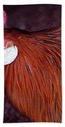 Hen Chicken, Digital Paint Beach Towel