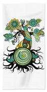 Henna Tree Of Life Beach Towel