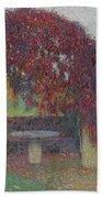 Henri Jean Guillaume Martin 1860 - 1943 The Bower Flowers Beach Towel