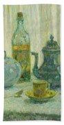 Henri Le Sidaner 1862 - 1939 Still Life Beach Towel